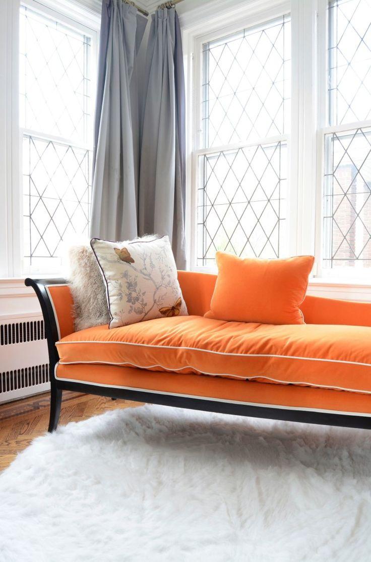 Оранжевая софа