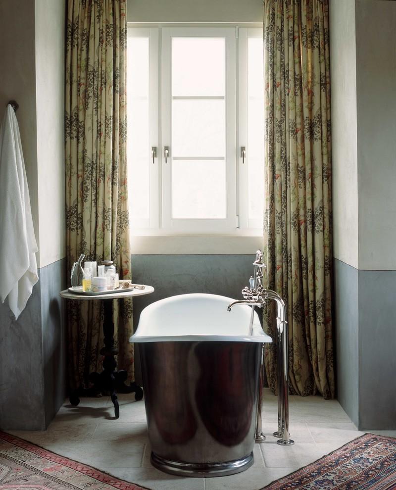Овальная ванна из стали