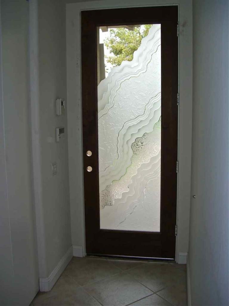 Дверь 3D из стекла