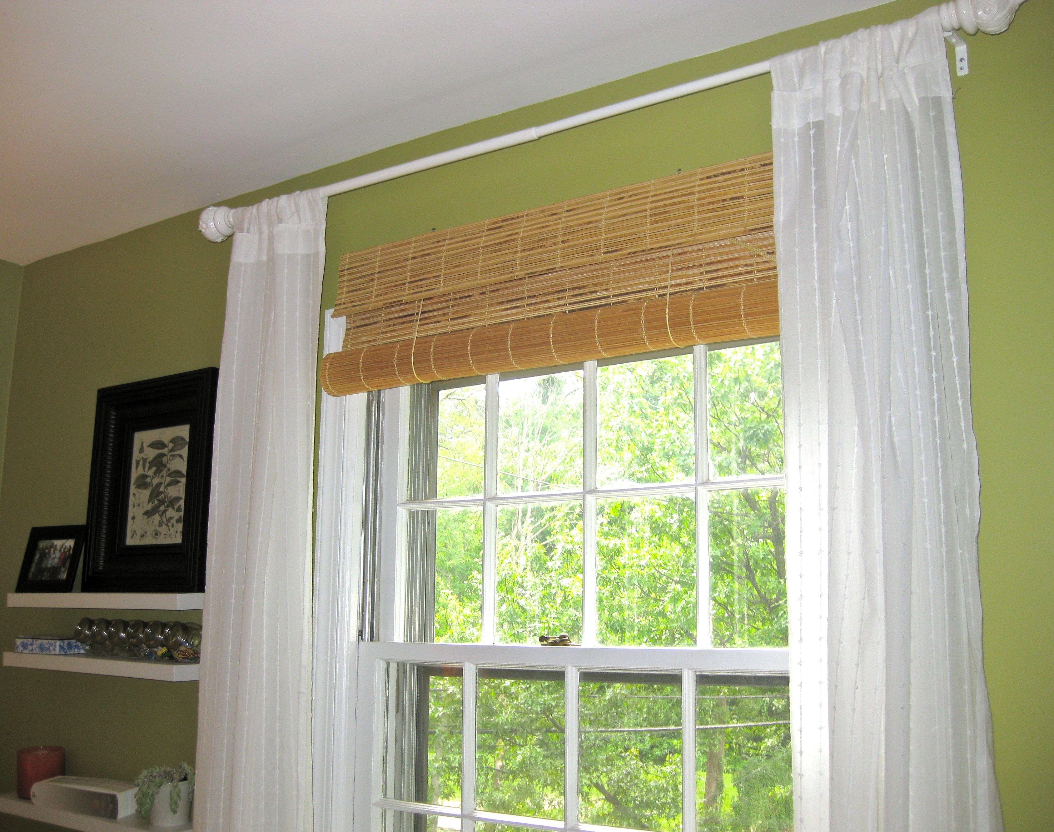 Бамбуковые светлые шторы