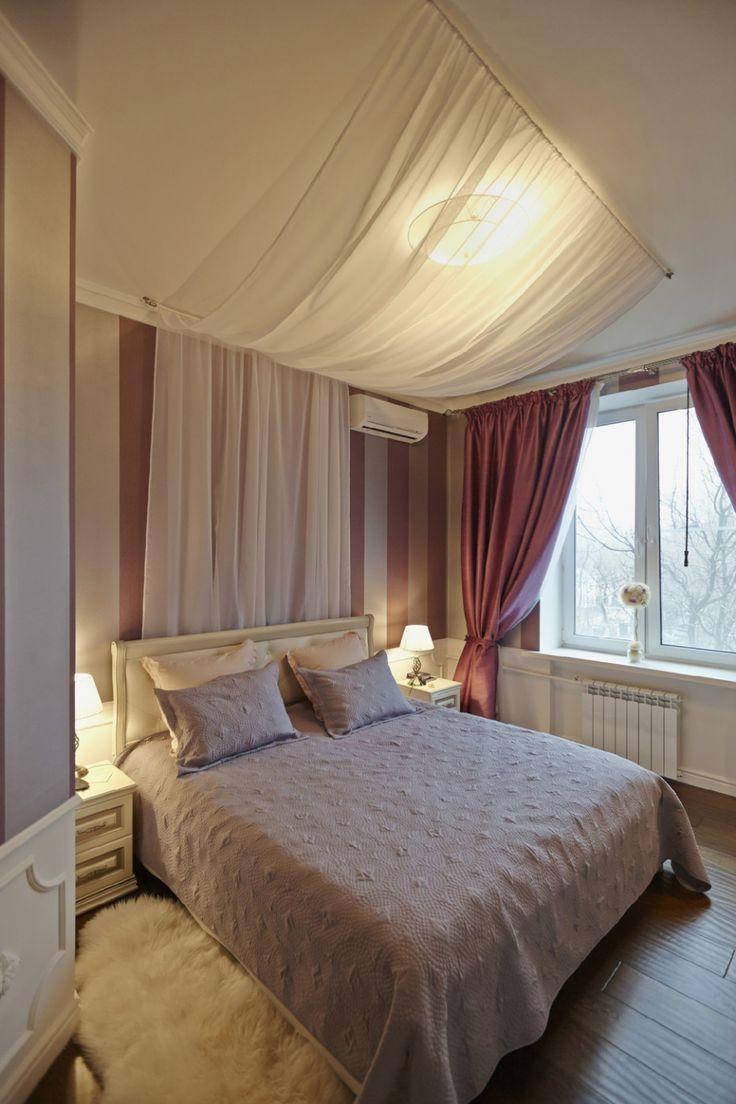 Уютная спальня с текстилем