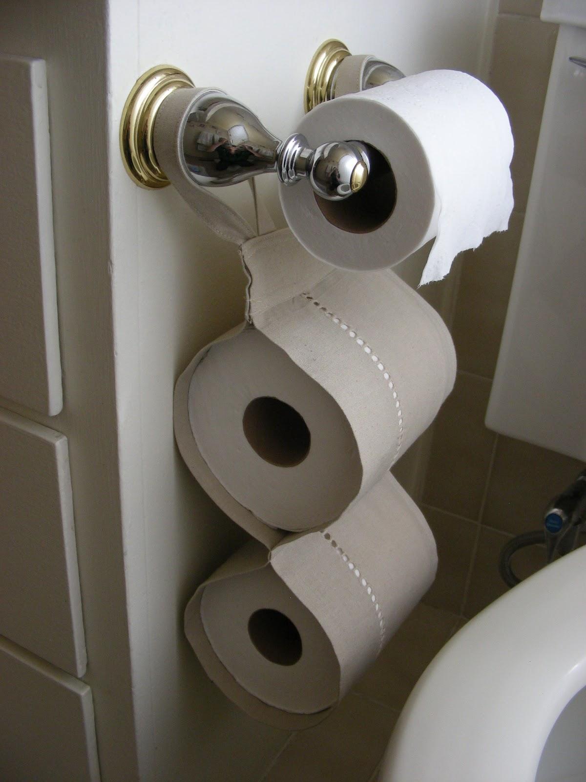 Держатель для туалетной бумаги из текстиля