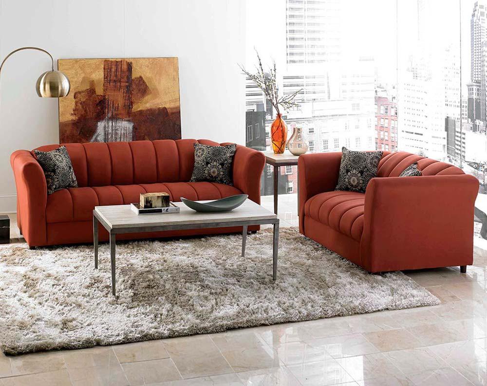 Терракотовый диван