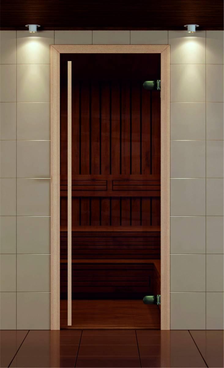 Дверь для сауны из тонированного стекла