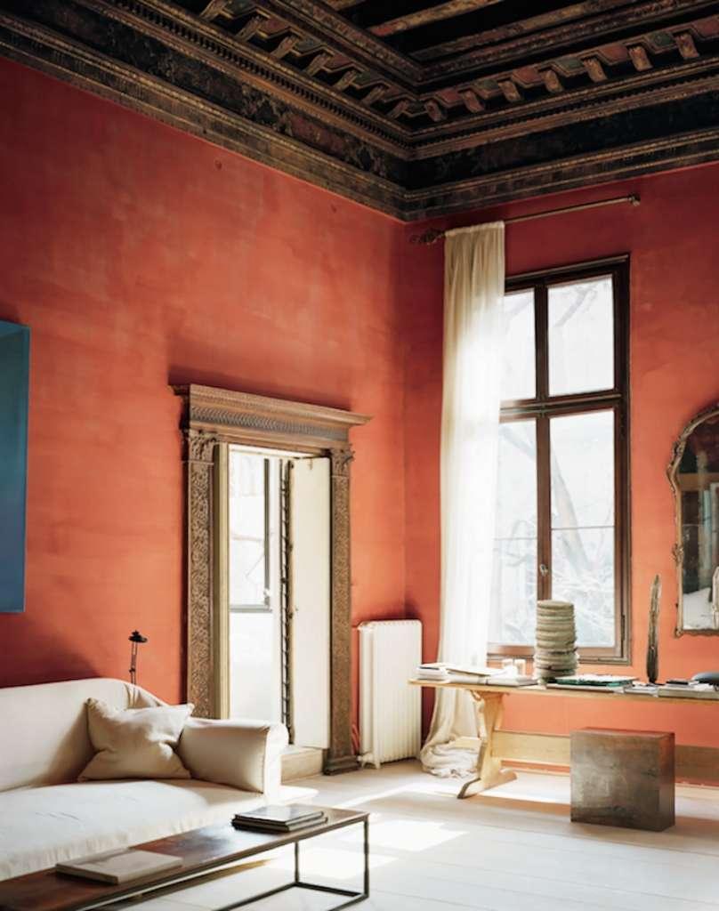 Терракотовый цвет в тосканском интерьере