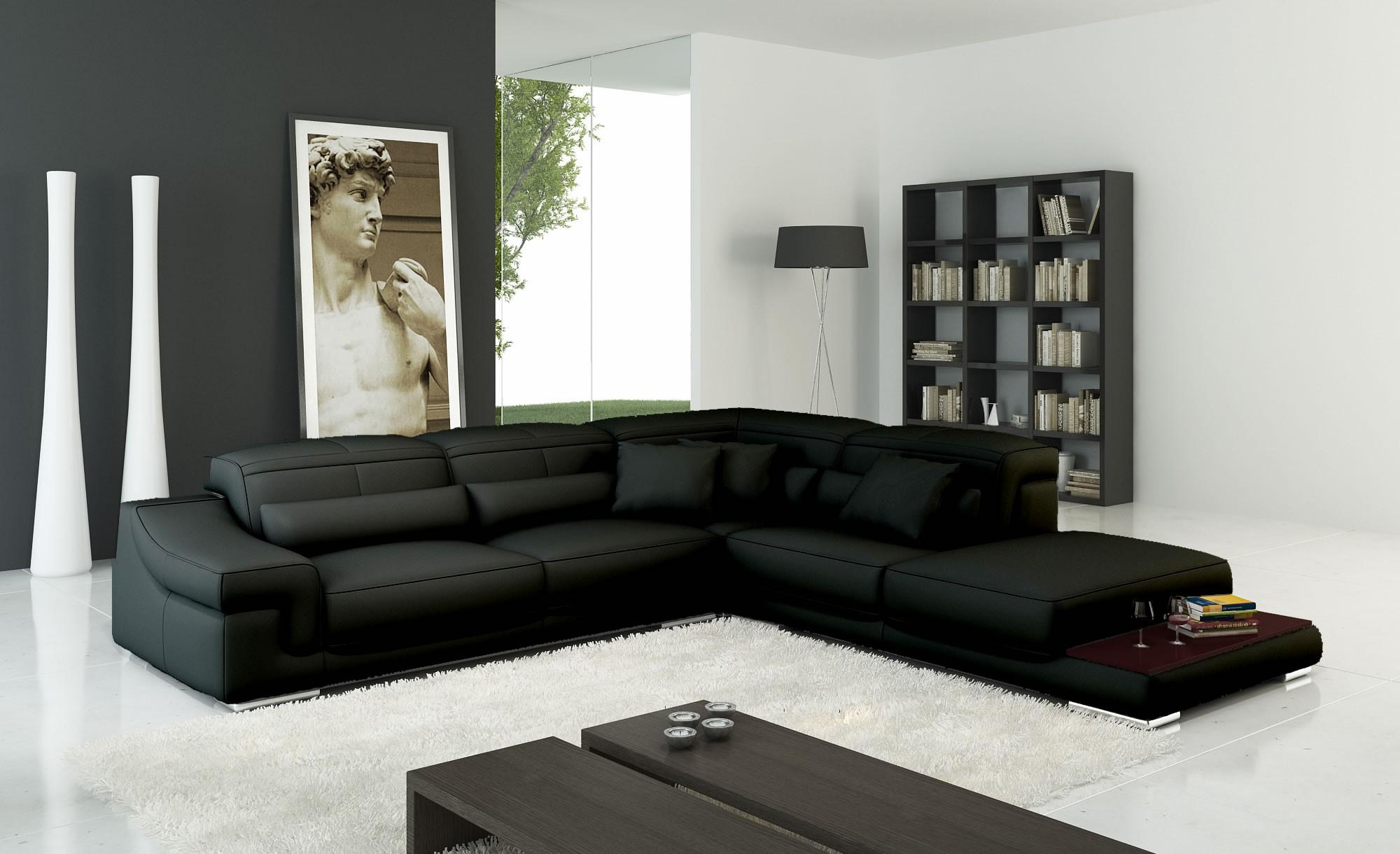 Угловой бескаркасный диван