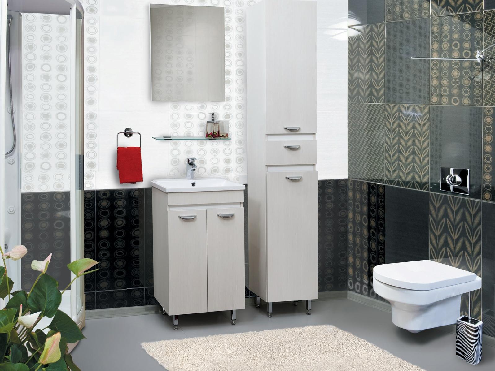Шкаф узкий в ванной