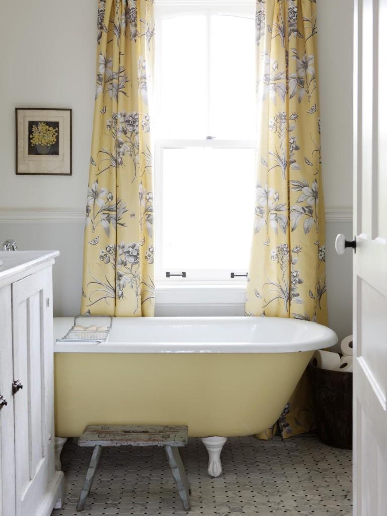 Шторы в стиле прованс в ванной