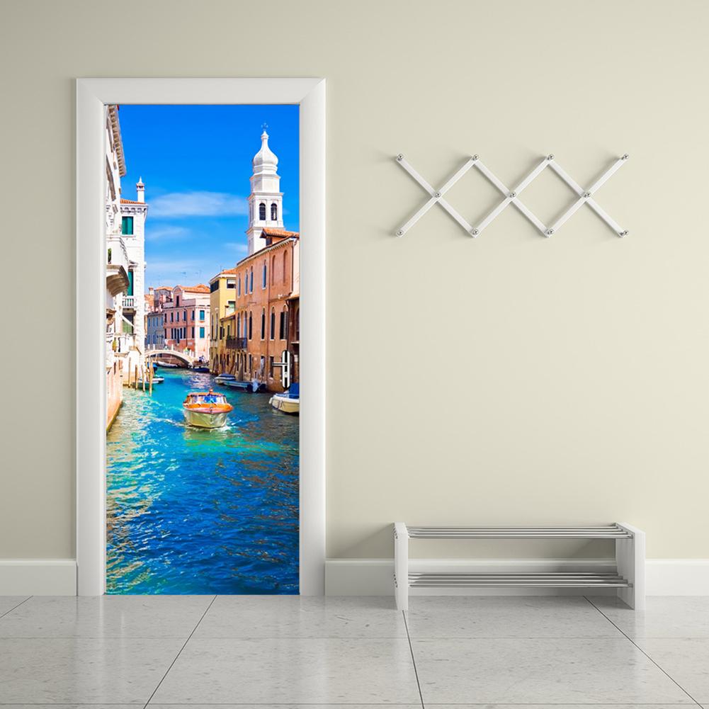 Дверь 3D с фотопринтом Венеции
