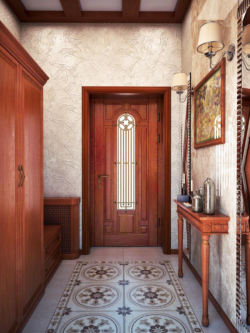 Входная дверь из вишни