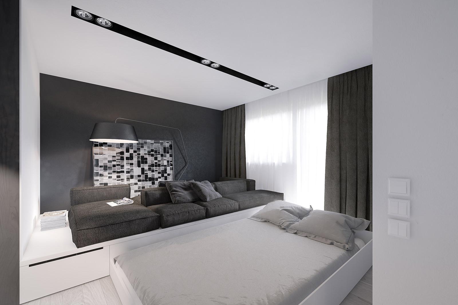 Белая выдвижная кровать