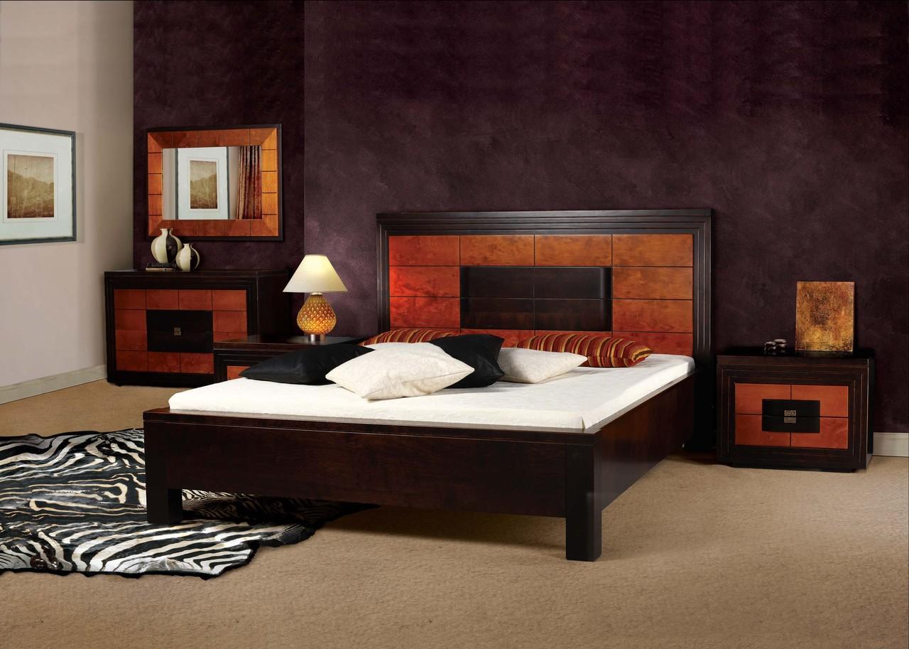 Спальня венге со вставками