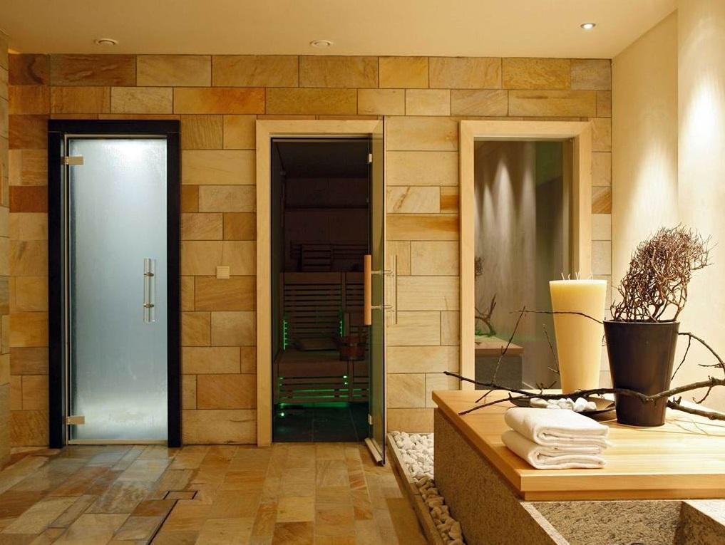 Дверь для сауны из закаленного стекла