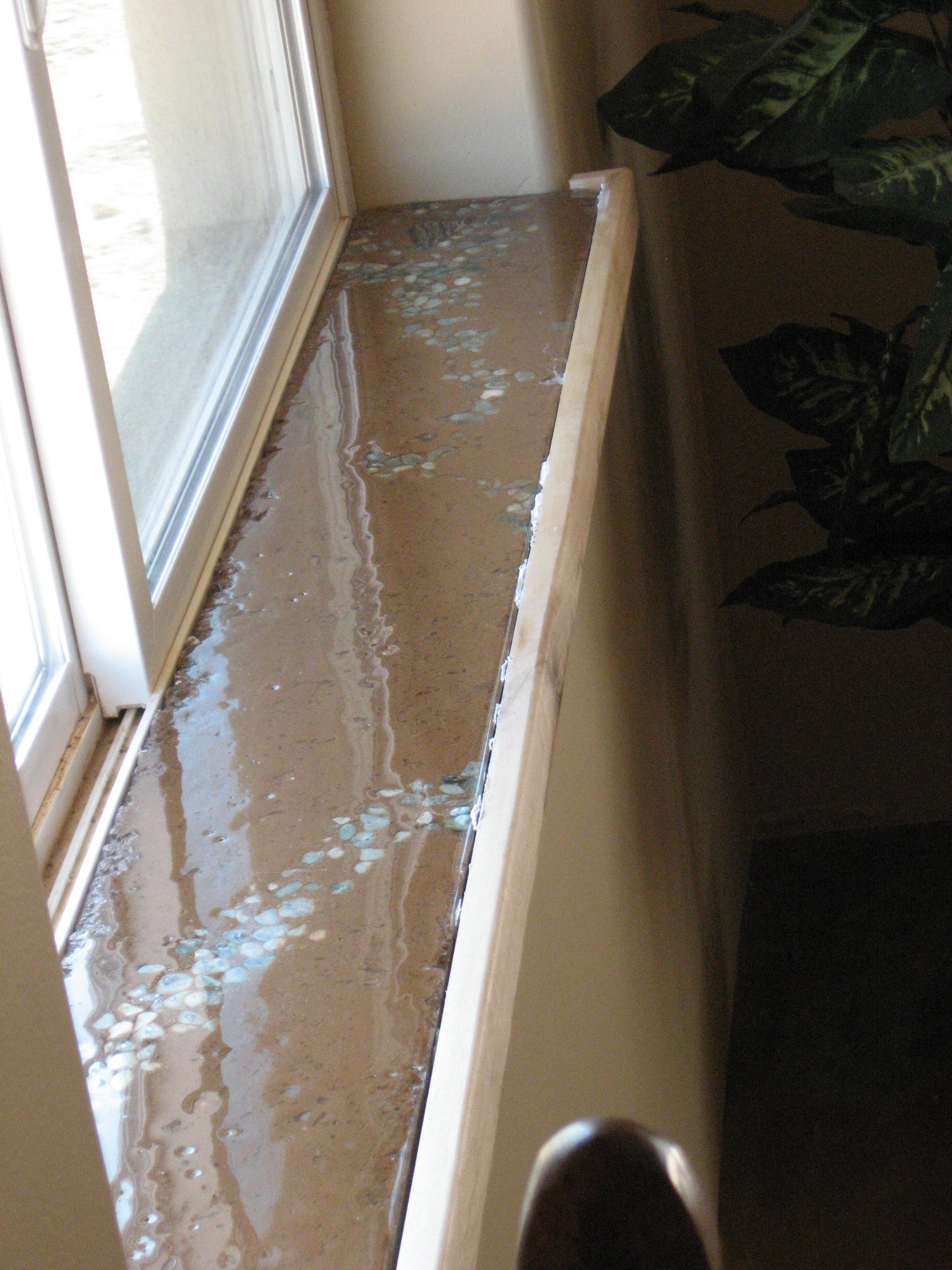 Заливка бетонного подоконника
