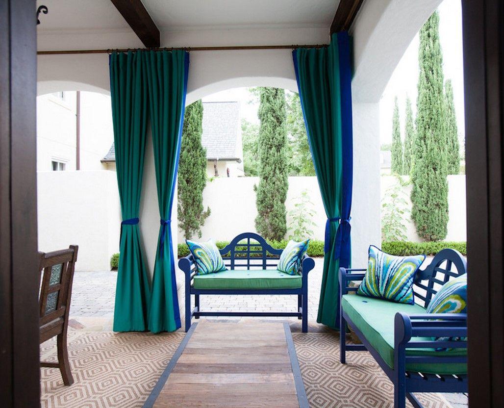 Сине-зеленые шторы