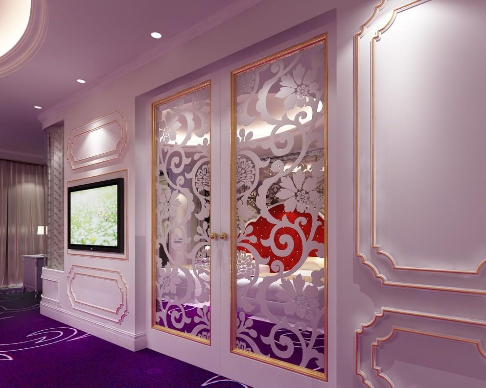 Зеркальная дверь 3D