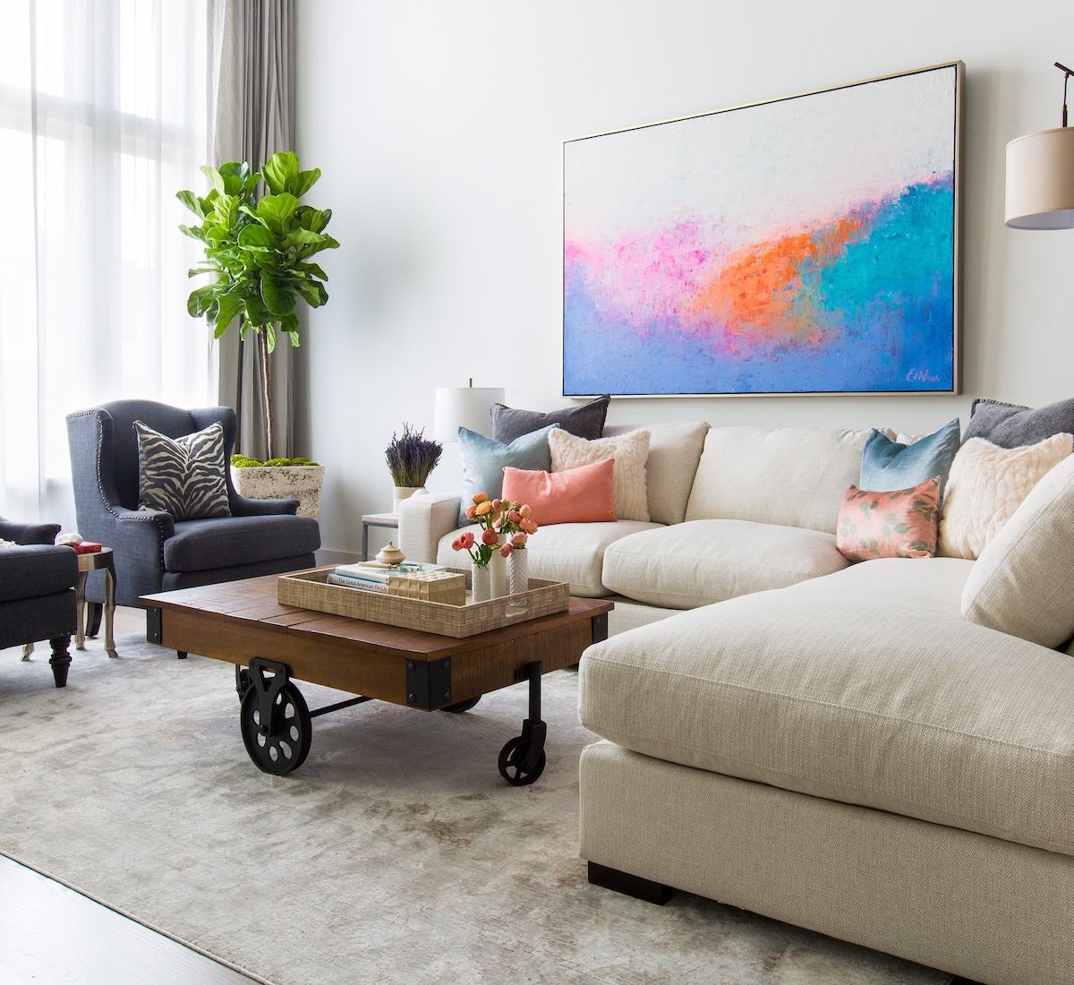 Пружинный диван из жаккарда