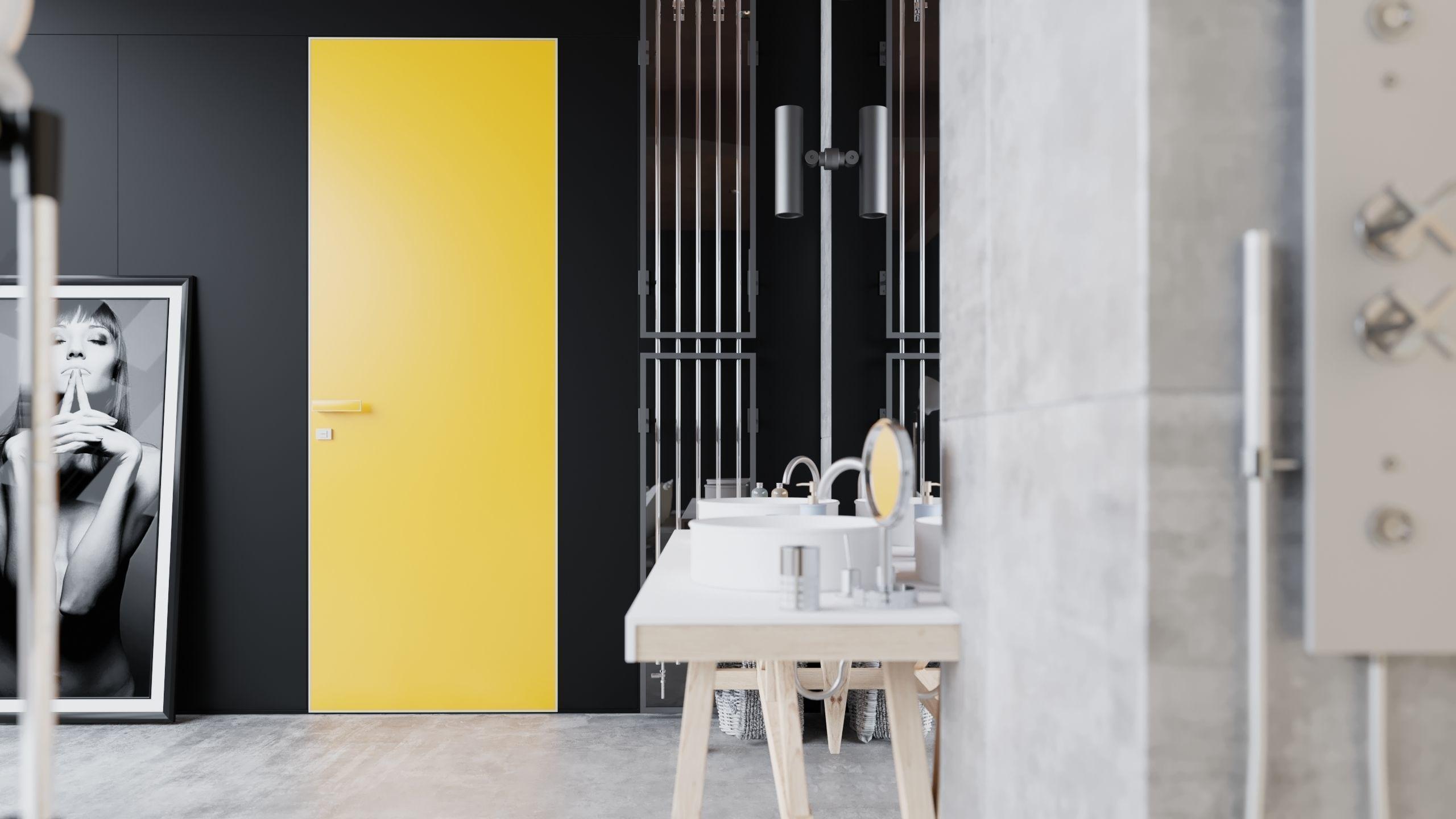 Желтая дверь 3D