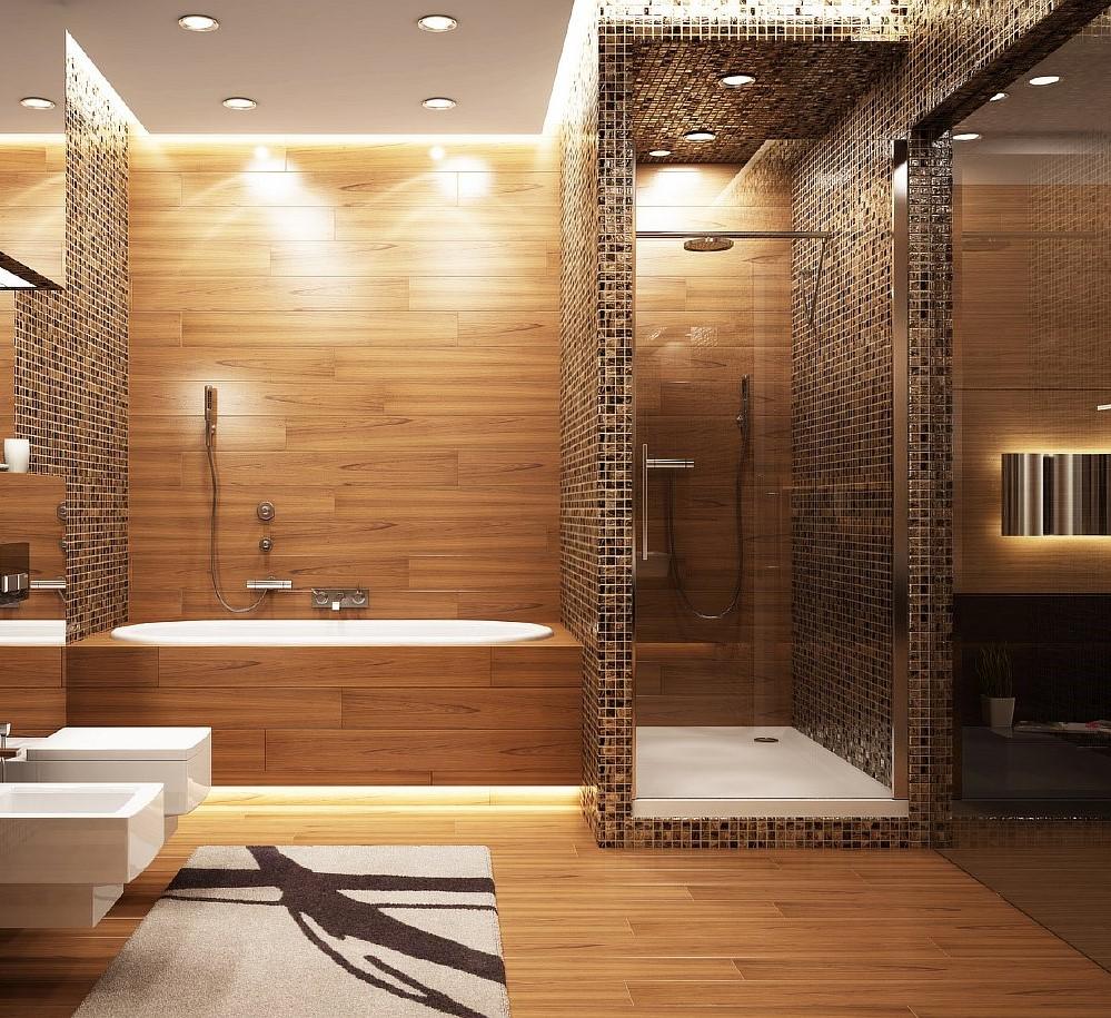 Подсветка зон в ванной