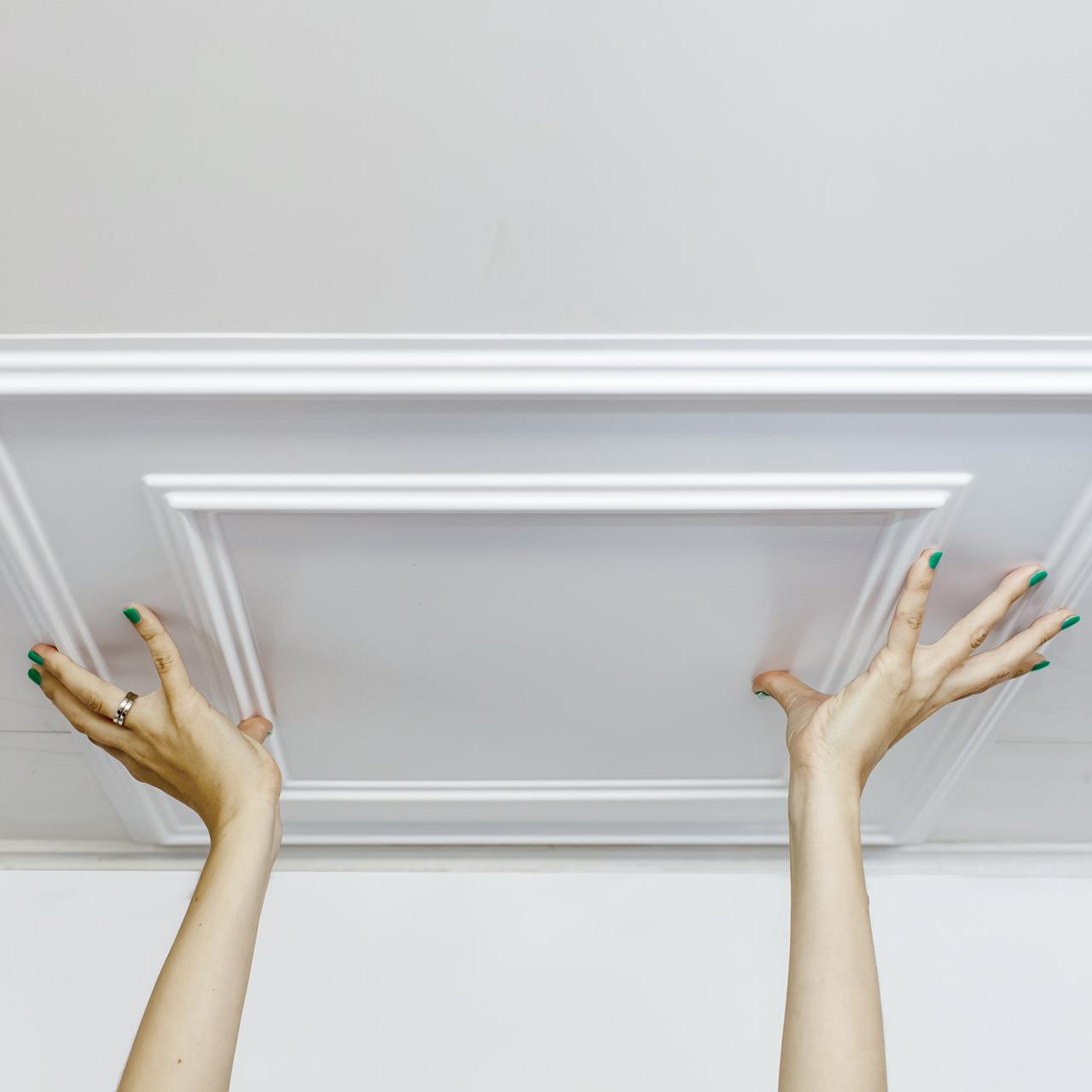 3D панели на потолке