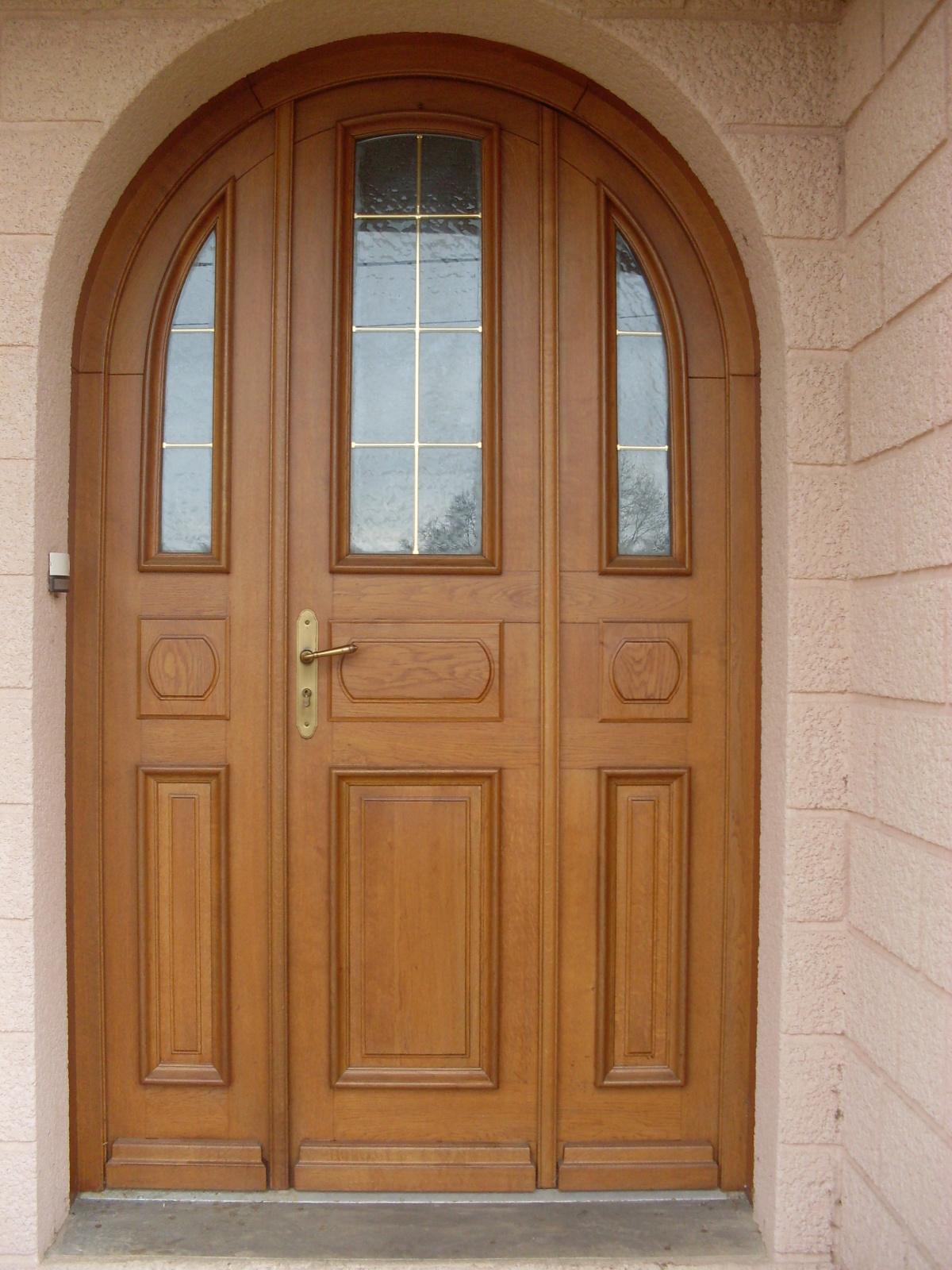 Входная арочная дверь МДФ