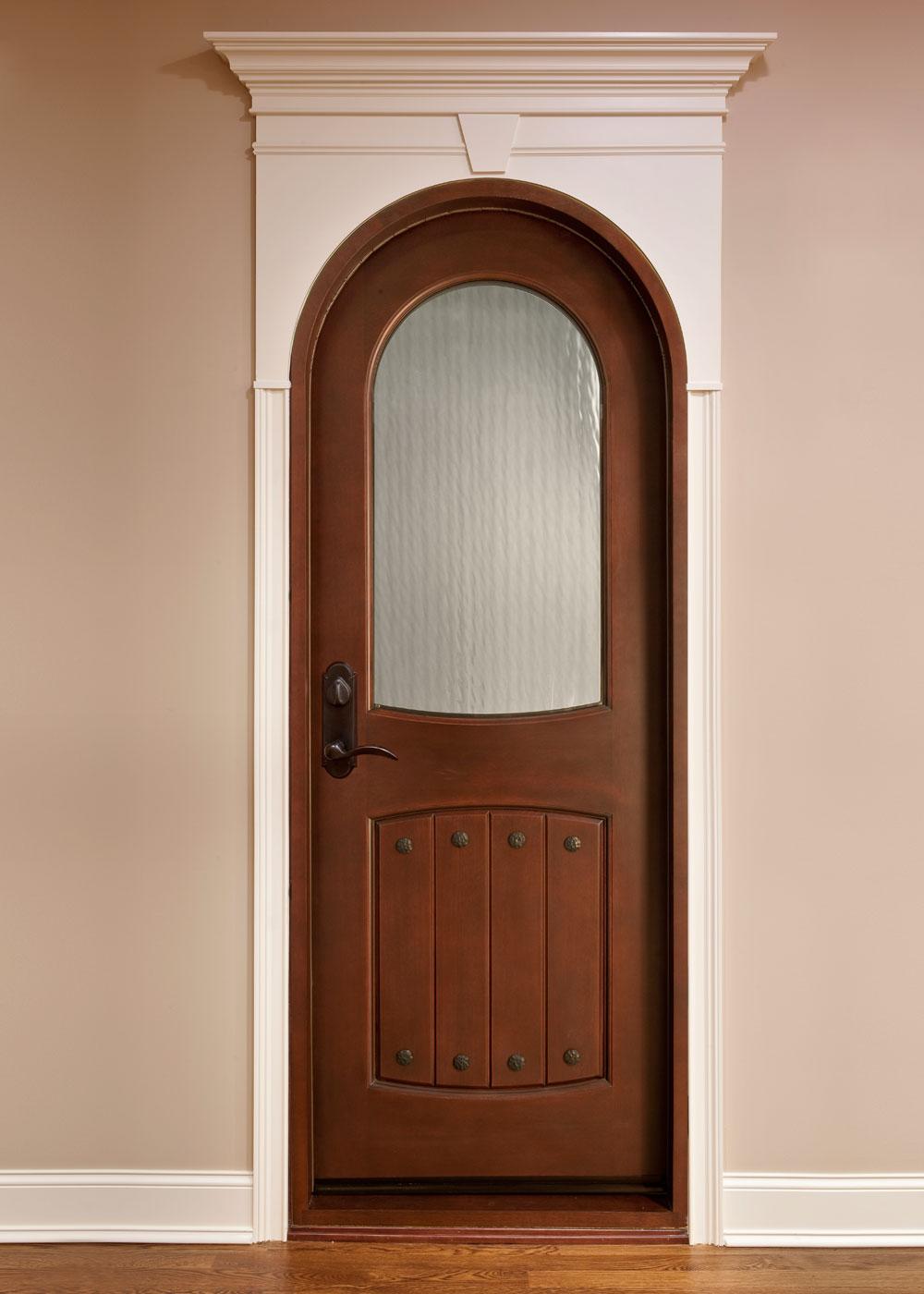 Арочная межкомнатная дверь МДФ