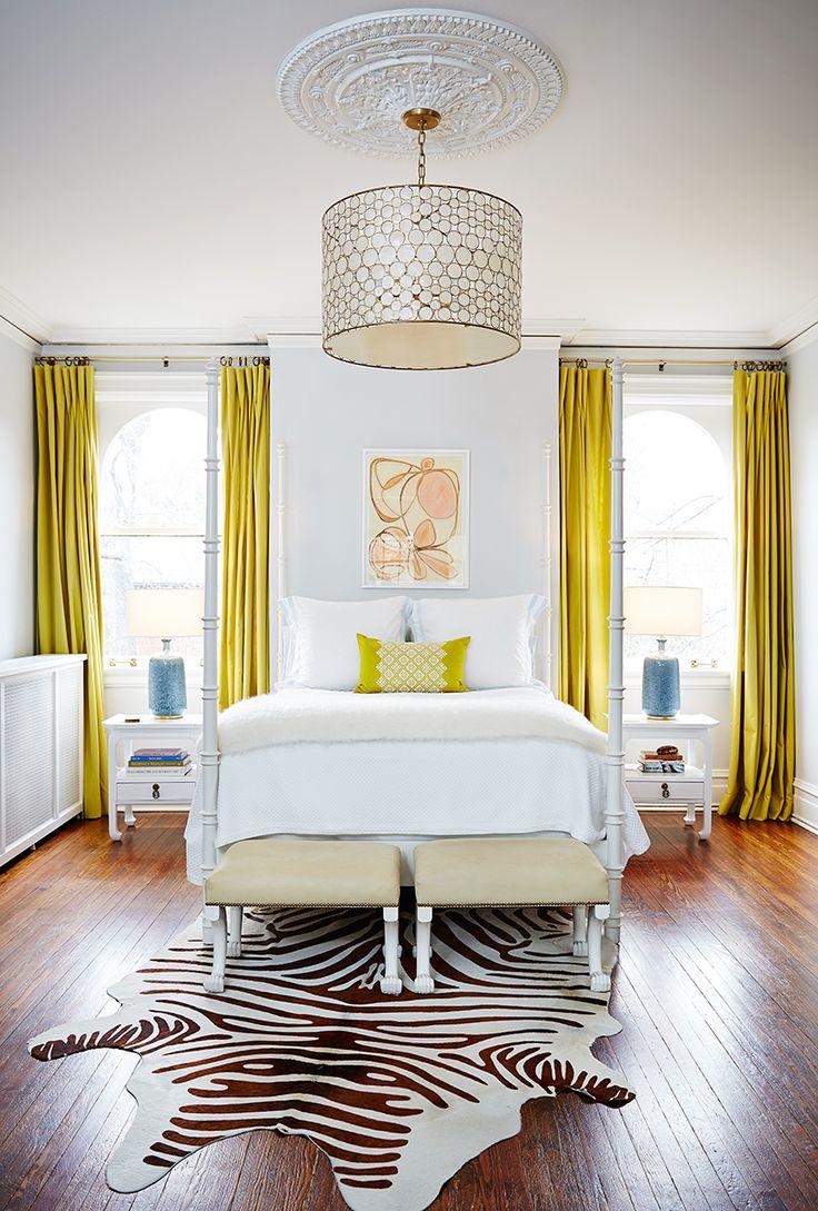 Атласные желтые шторы