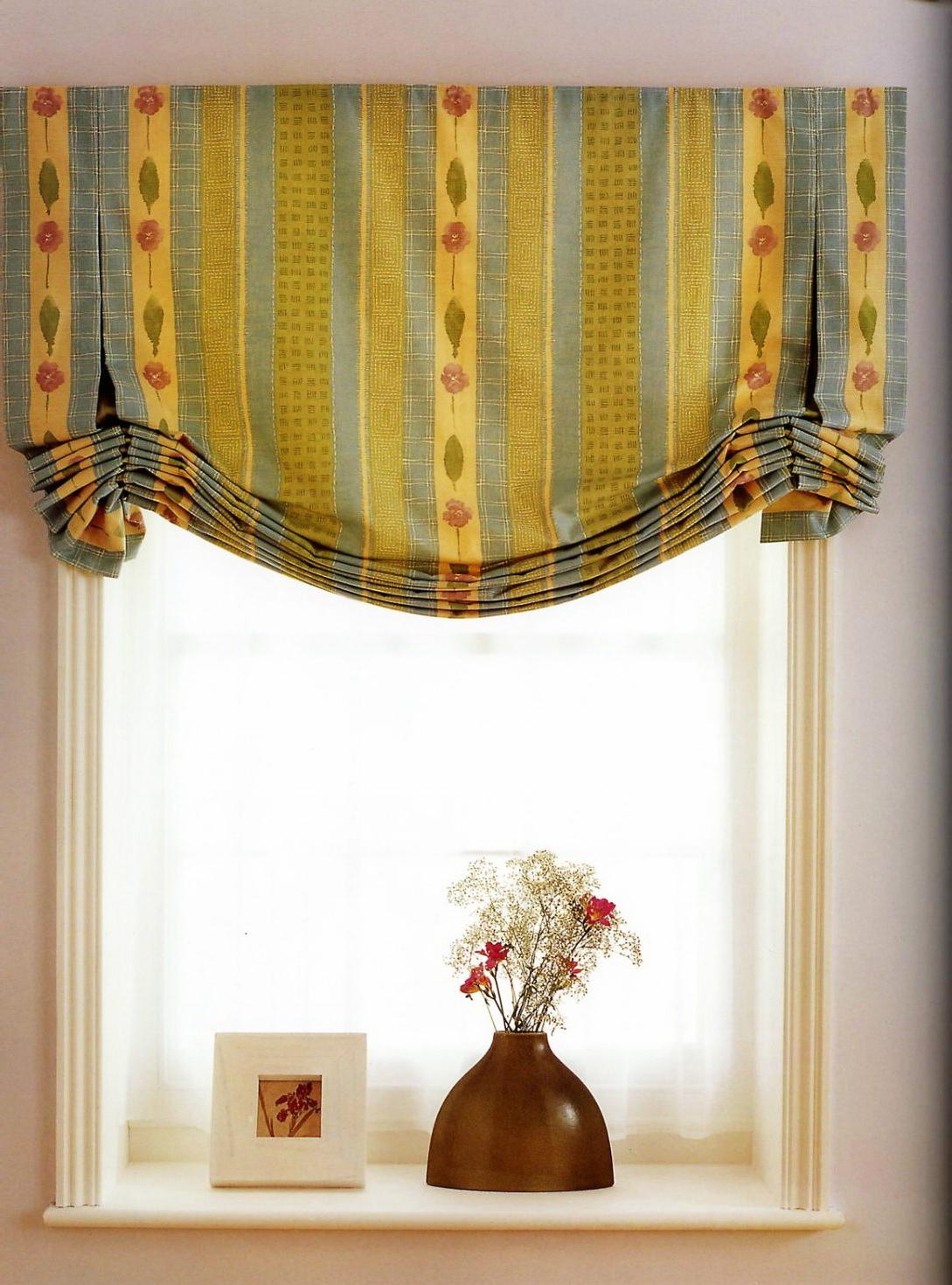 Австрийские короткие шторы