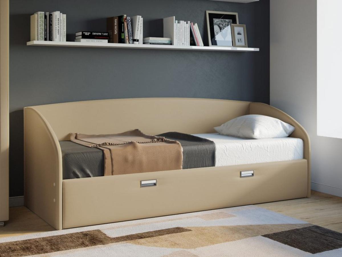 Бежевая кровать тахта