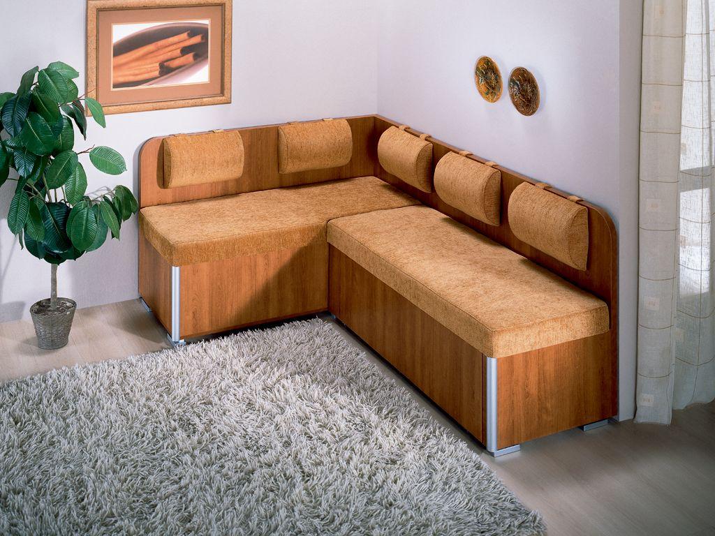 Бежевый узкий диван