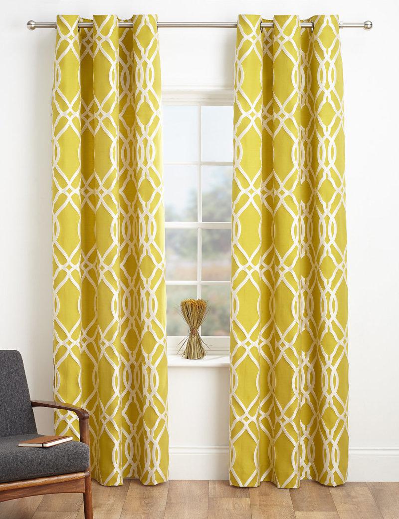 Бело-желтые шторы