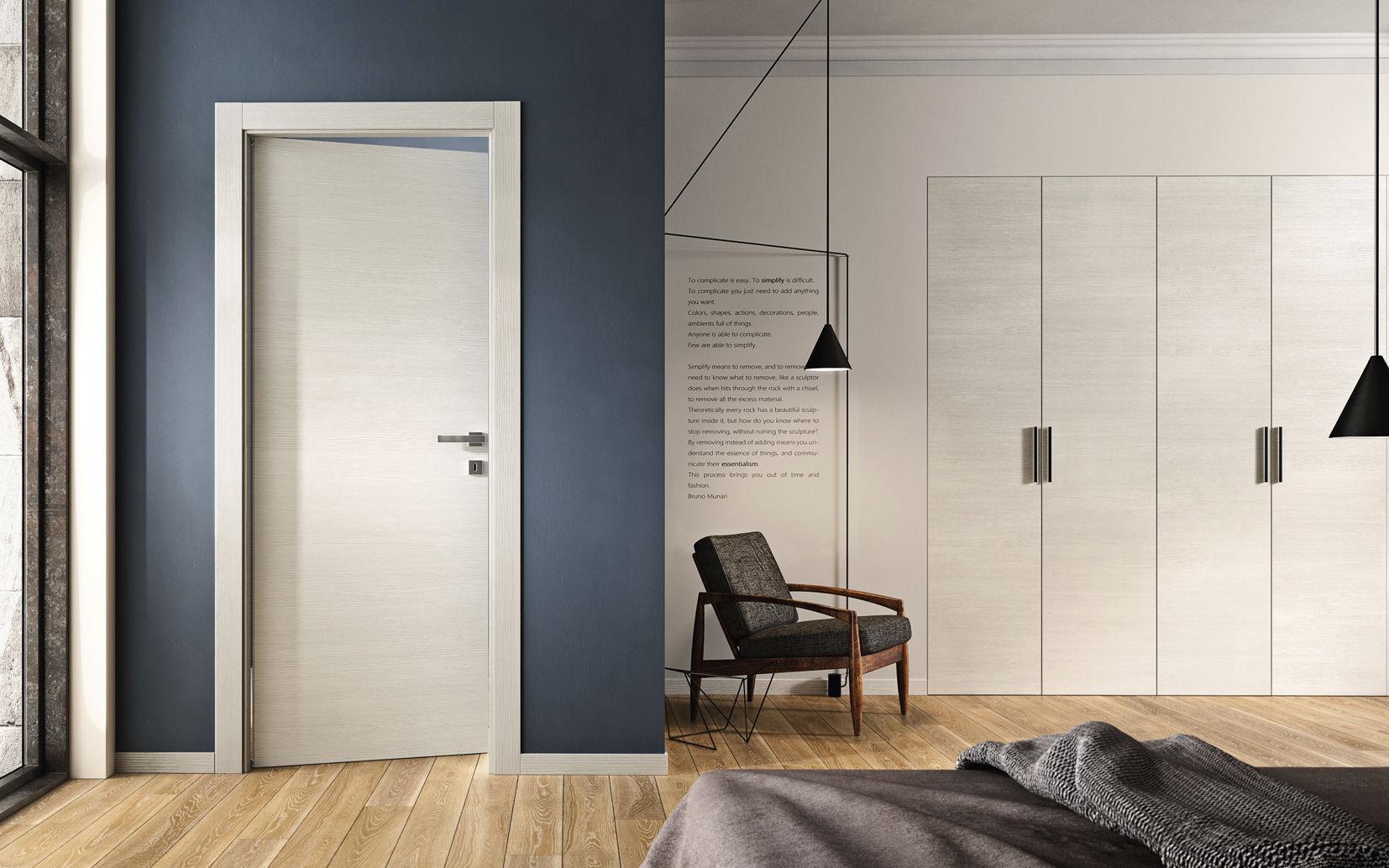 Белая ламинированная дверь