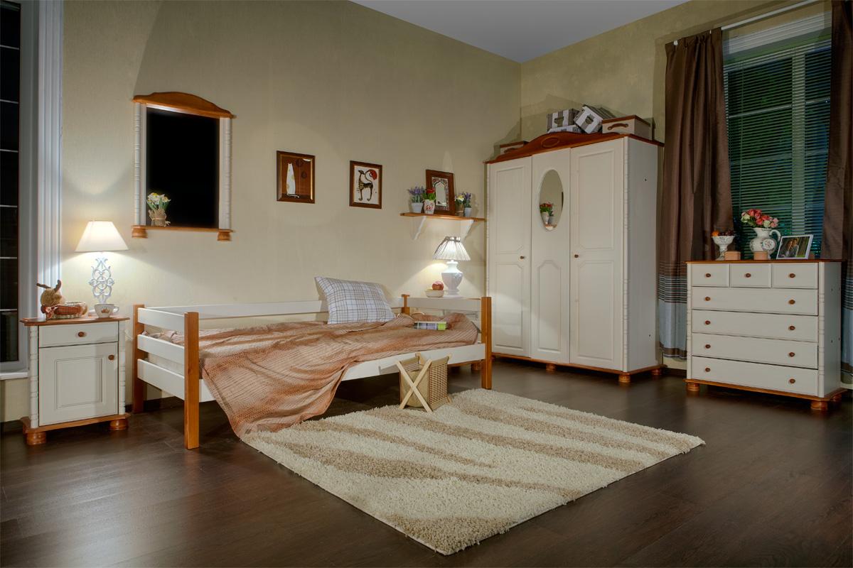 Белая кровать тахта