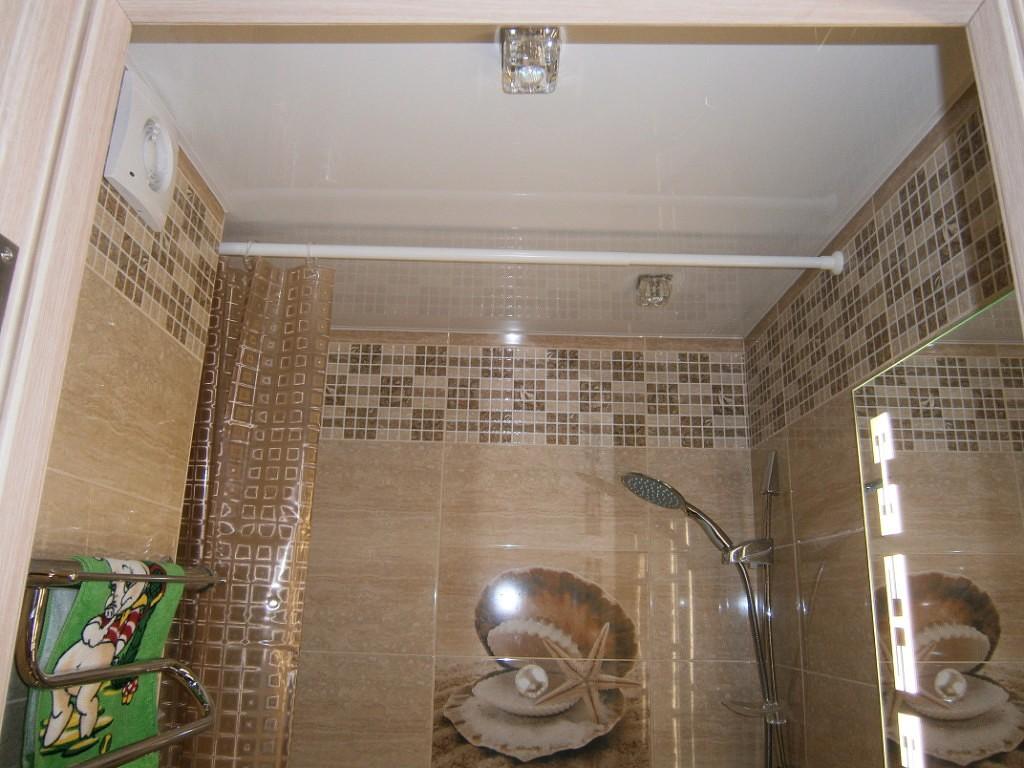 Белая штанга для ванной