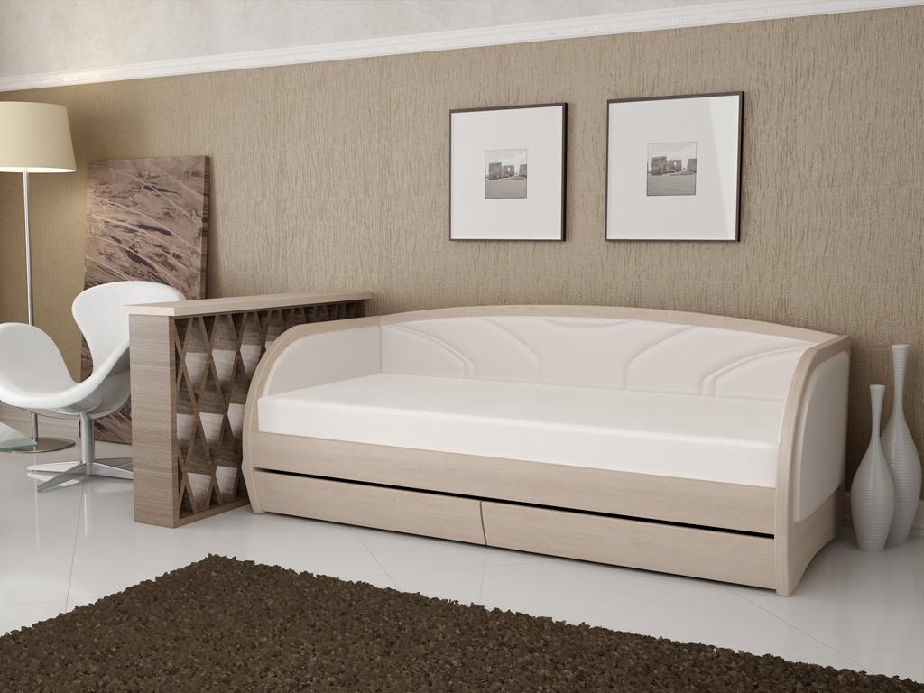 Кровать тахта под беленый дуб