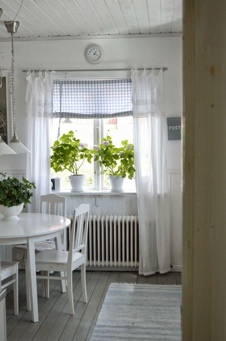 Комбинированные белые шторы