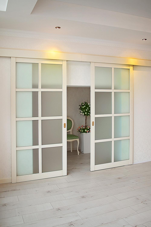 Откатная белая дверь