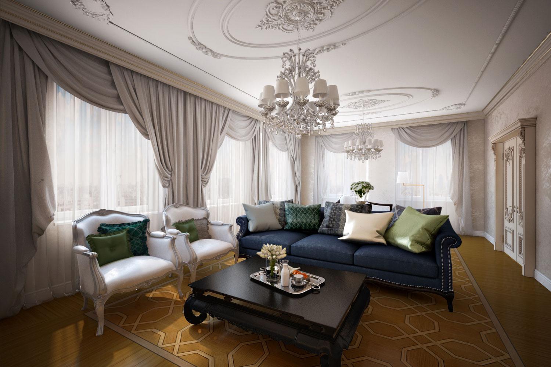 Белый классический потолок