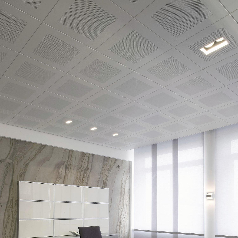 Белый акустический потолок