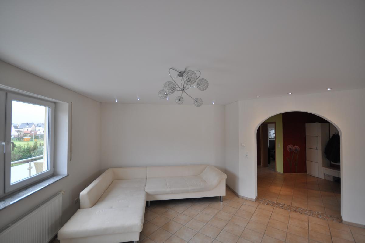 Сатиновый белый потолок