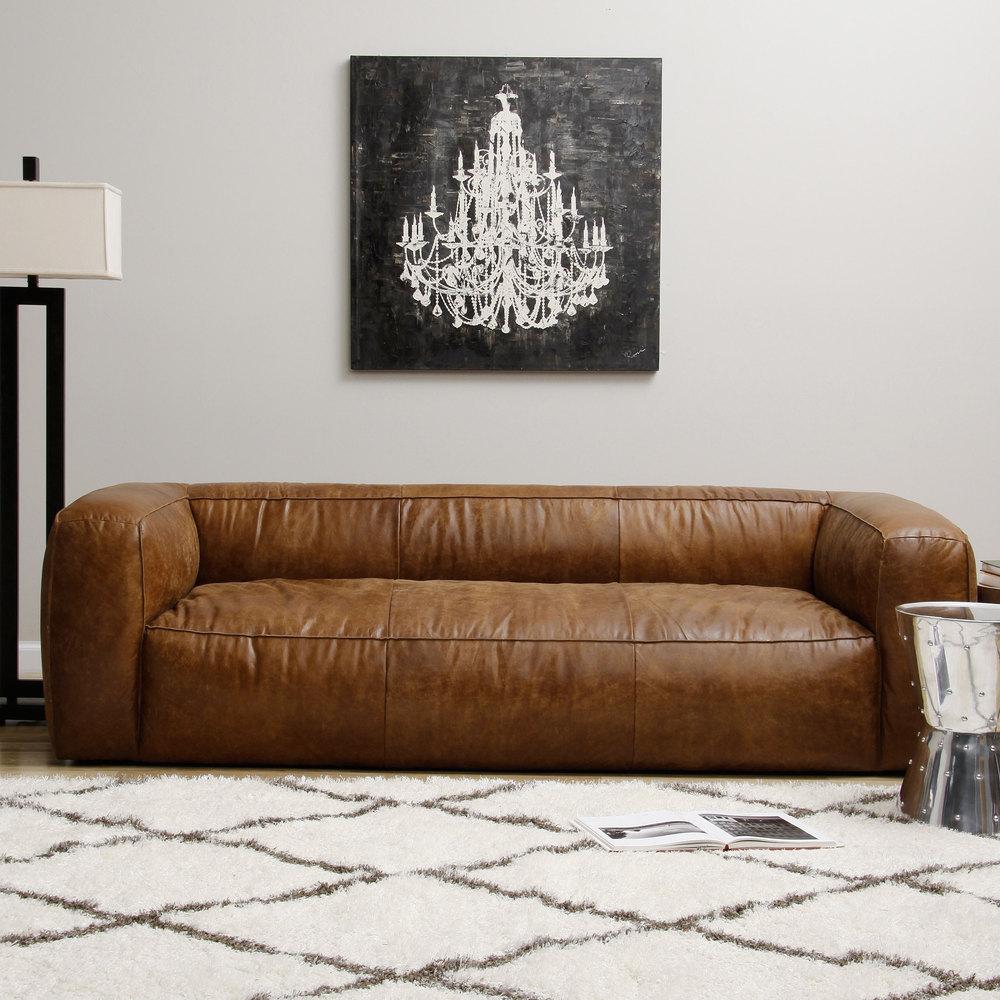 Бескаркасный диван из экокожи