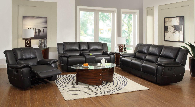 Черный диван-реклайнер