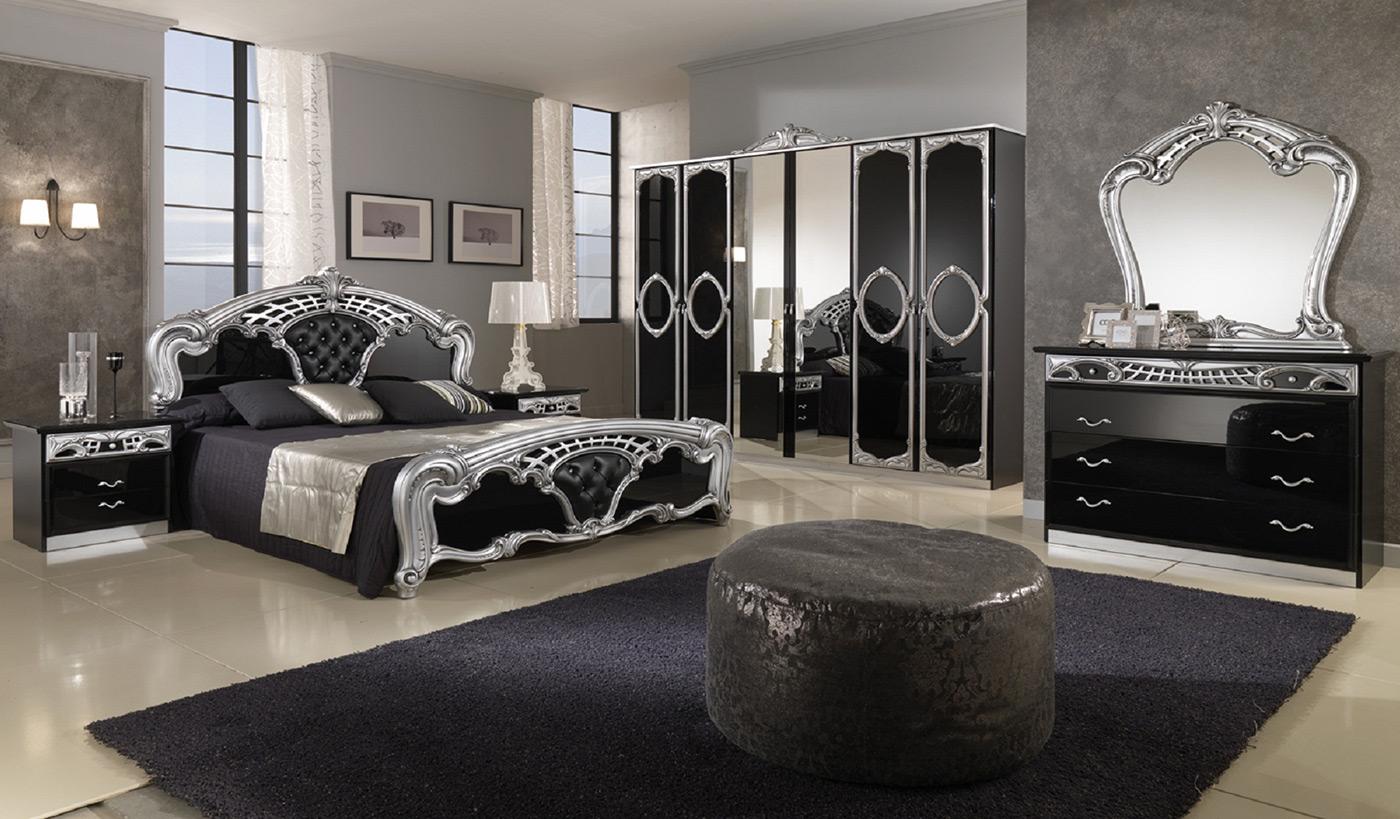 Черная глянцевая спальня