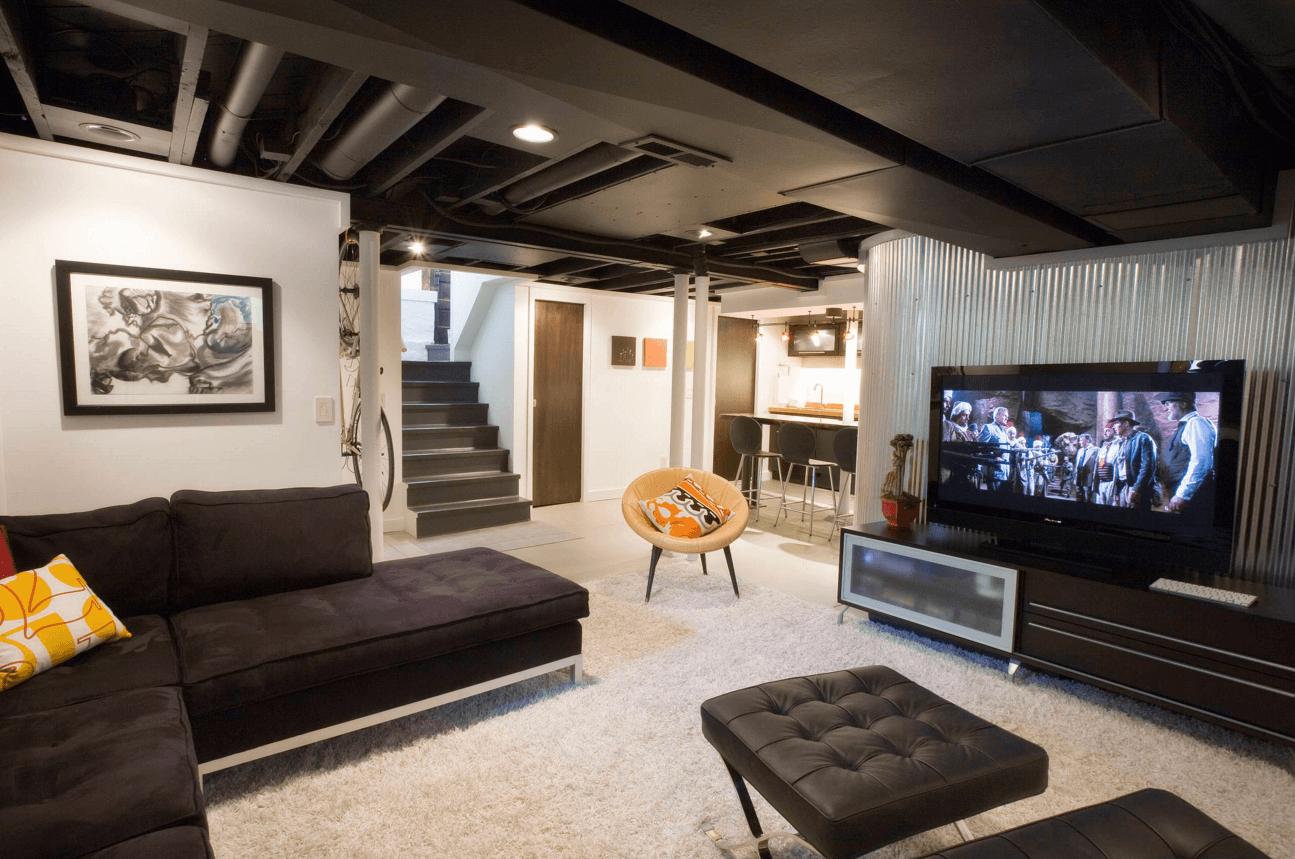 Черный матовый потолок