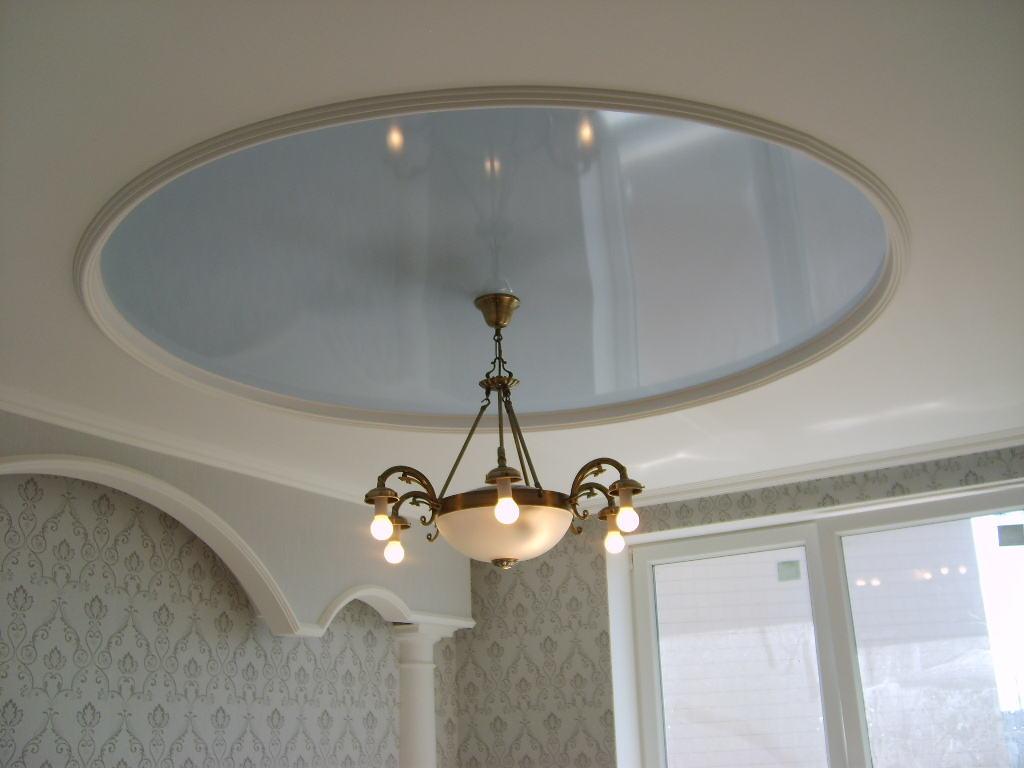 Круглый потолок в классическом стиле