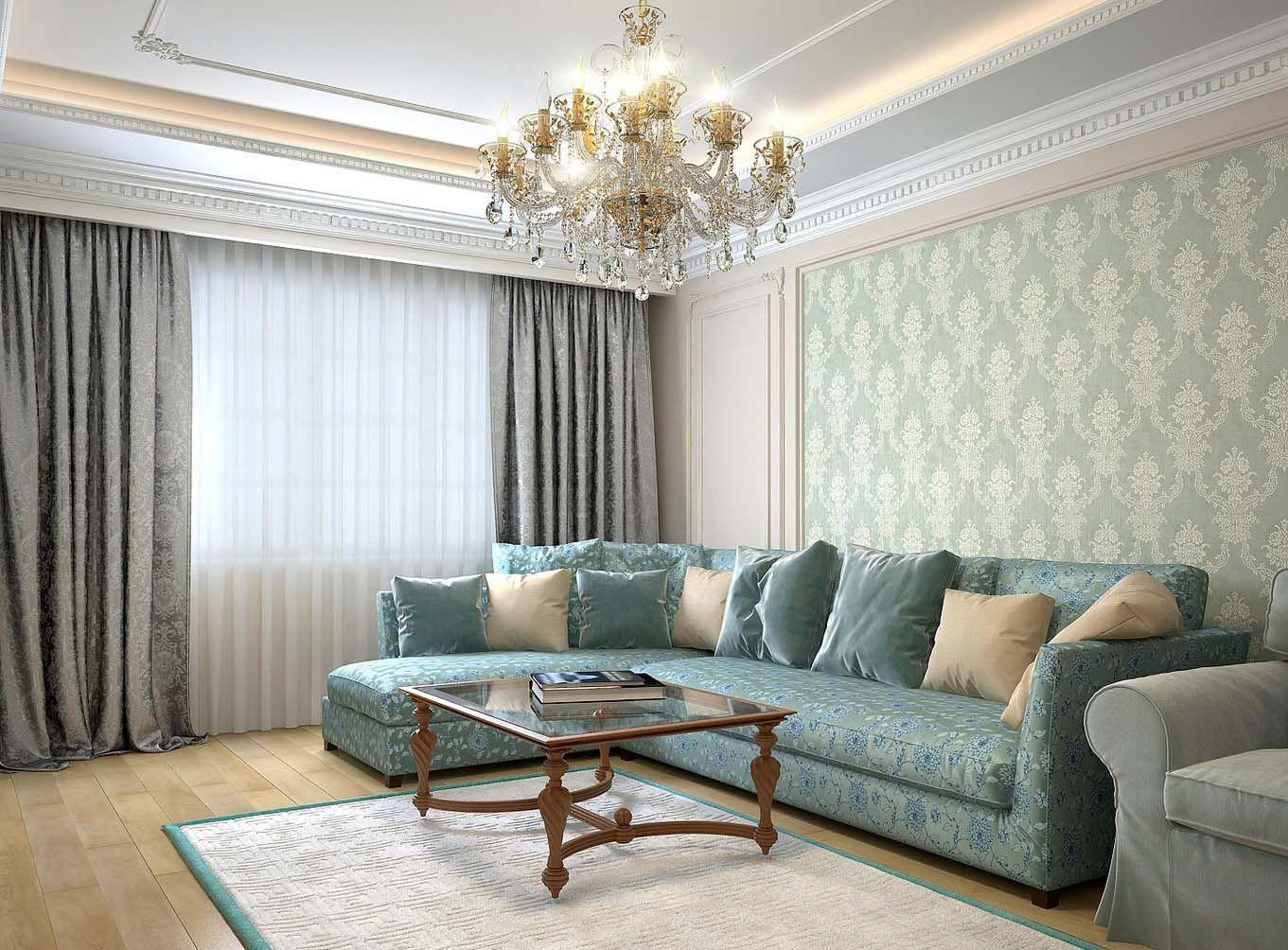 Потолочные шторы в классическом стиле