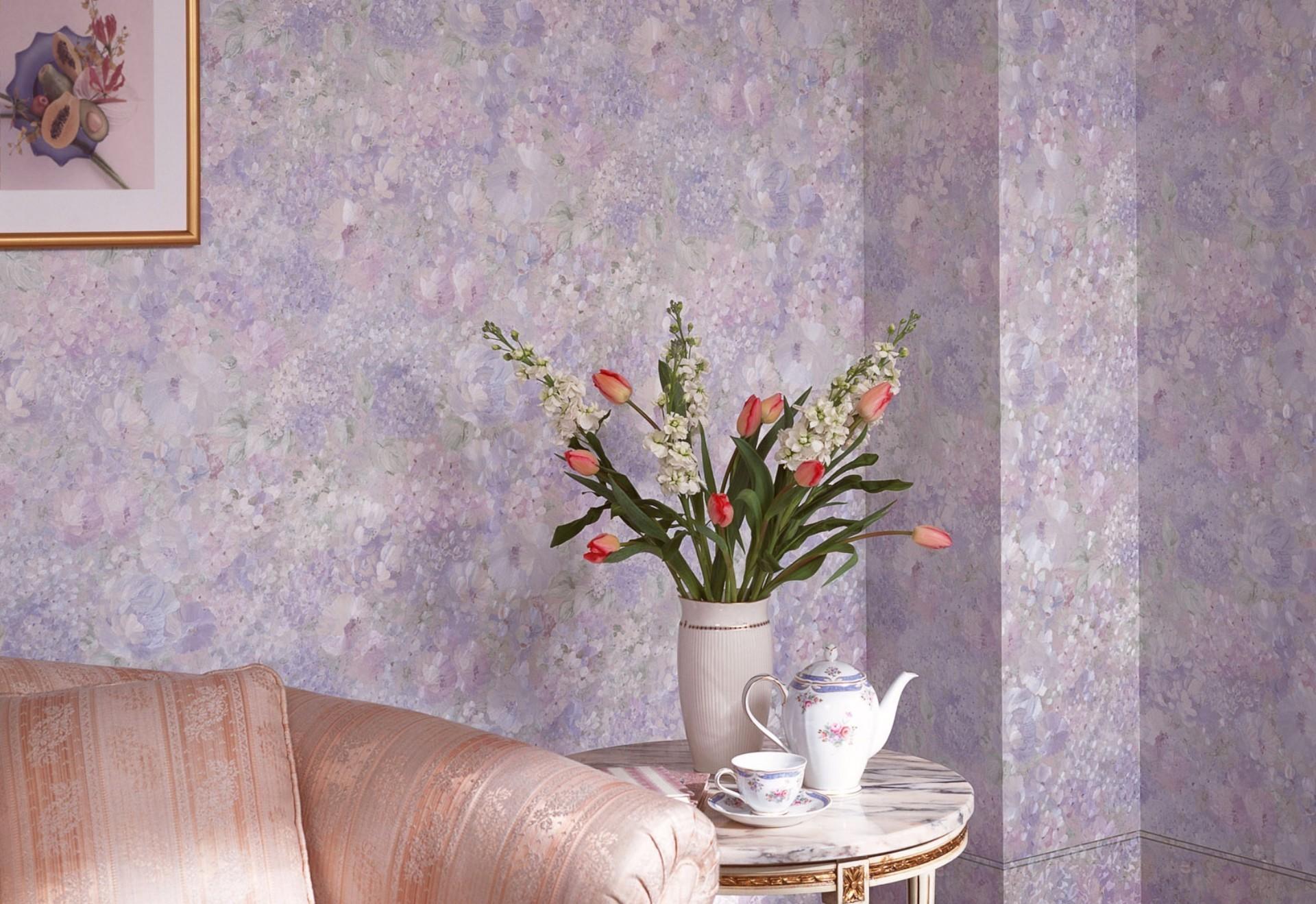Стеклообои с цветами