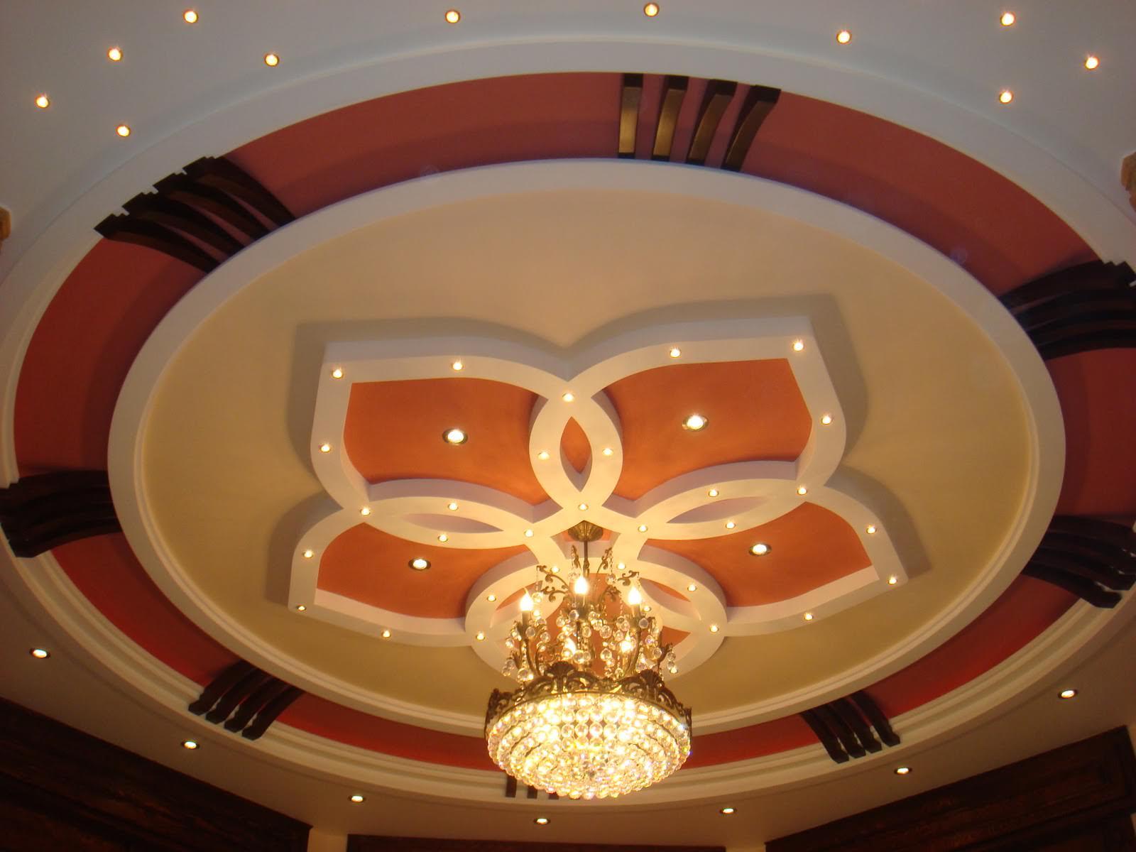 Круглый декоративный потолок