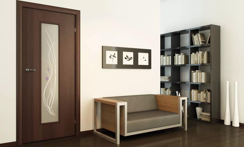 Ламинированная дверь с декором