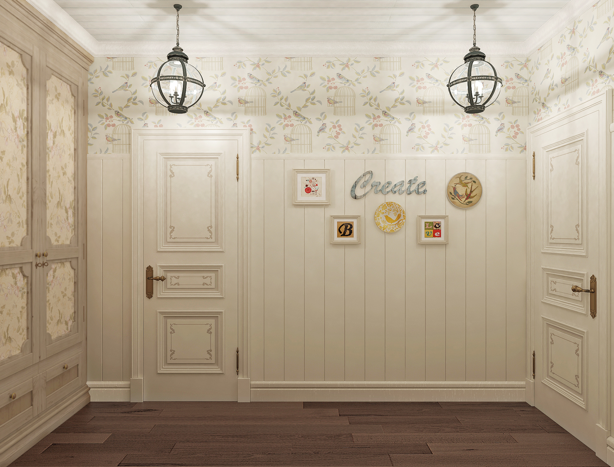 Дверь прованс с декором